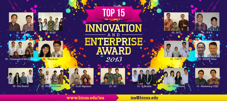 TOP 15 Innovation and Enterprise Award 2013