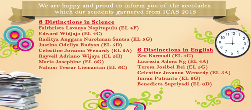 Congratulation to Students for Science and English Categories