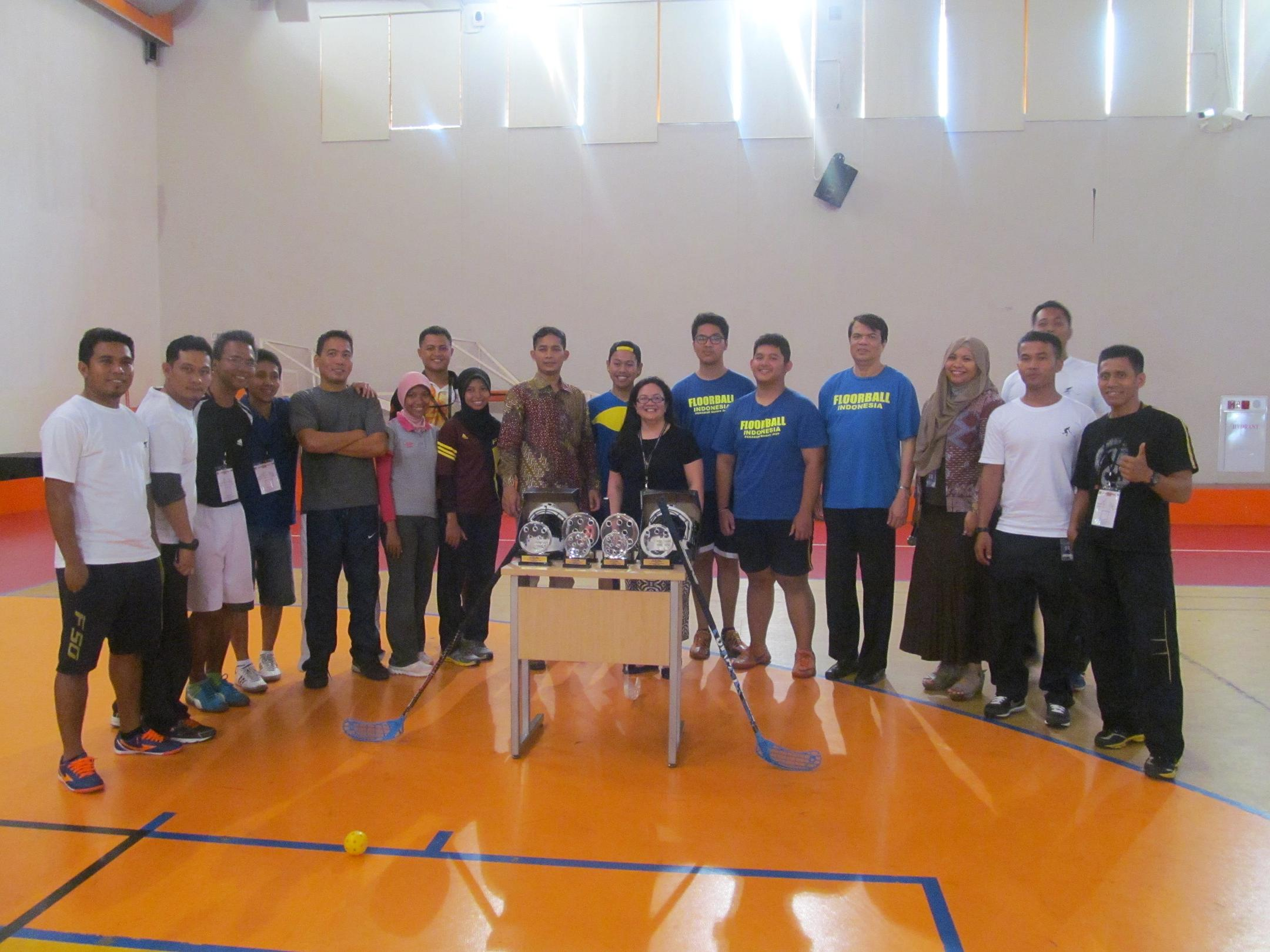 """Coaching Clinic"" with Founder of Indonesian Floorball"