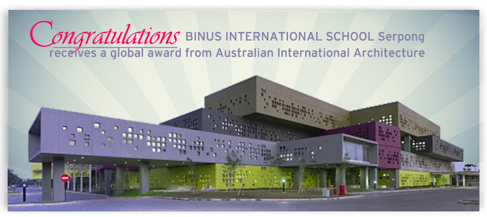BINUS Kindergarten and Primary School gets Commendation from The Australian Institute of Architects