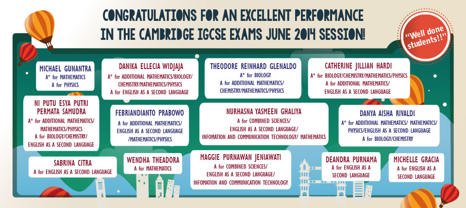 Congratulations for an Excellent IGCSE Results