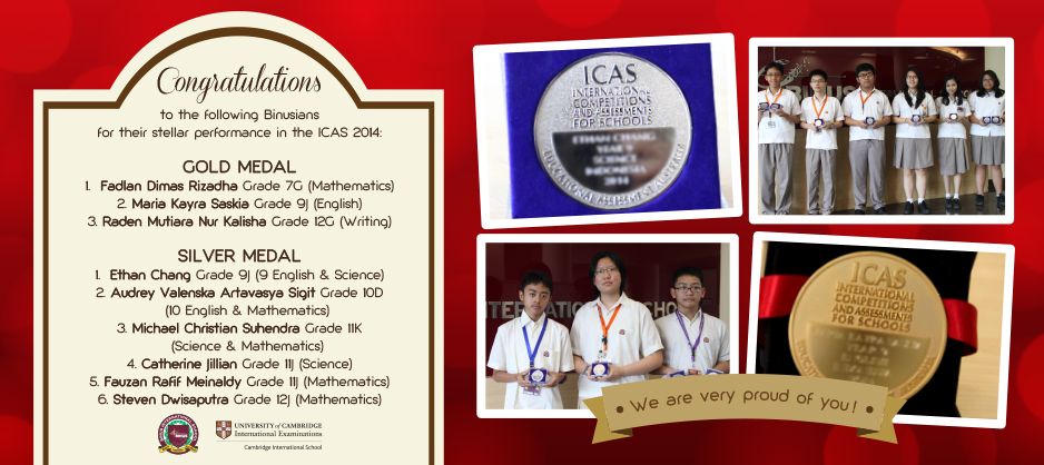 Congratulations for Their Stellar Performance in the ICAS 2014