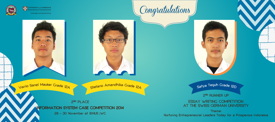 Congratulations for the Winner ISCC and Essay Writing Competition 2014