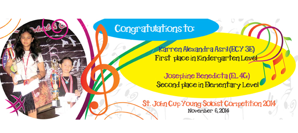 CONGRATULATIONS FOR THE WINNER St. John Cup Young Soloist Competition 2014