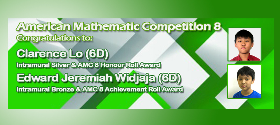 Congratulations to American Mathematic Competition 8 Winners