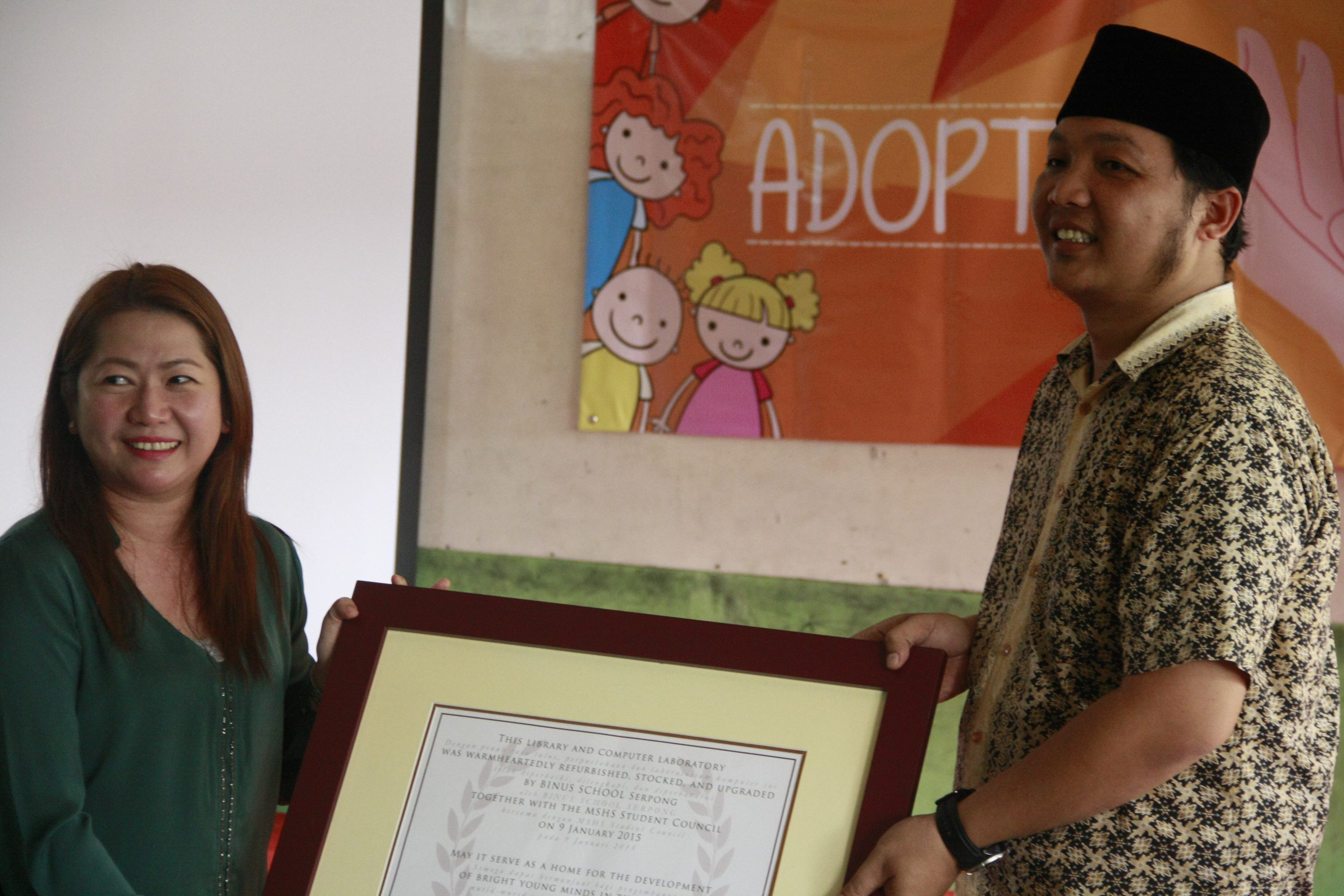 "Caring about the Surroundings, BINUS SCHOOL Serpong Launched ""Adopt A"" Program"