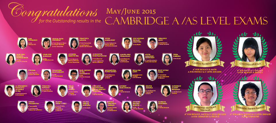 CONGRATULATIONS CAMBRIDGE A / AS LEVEL EXAMS