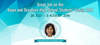 BINUSIAN in the Asian and Oceanian High School Students' Forum 2016