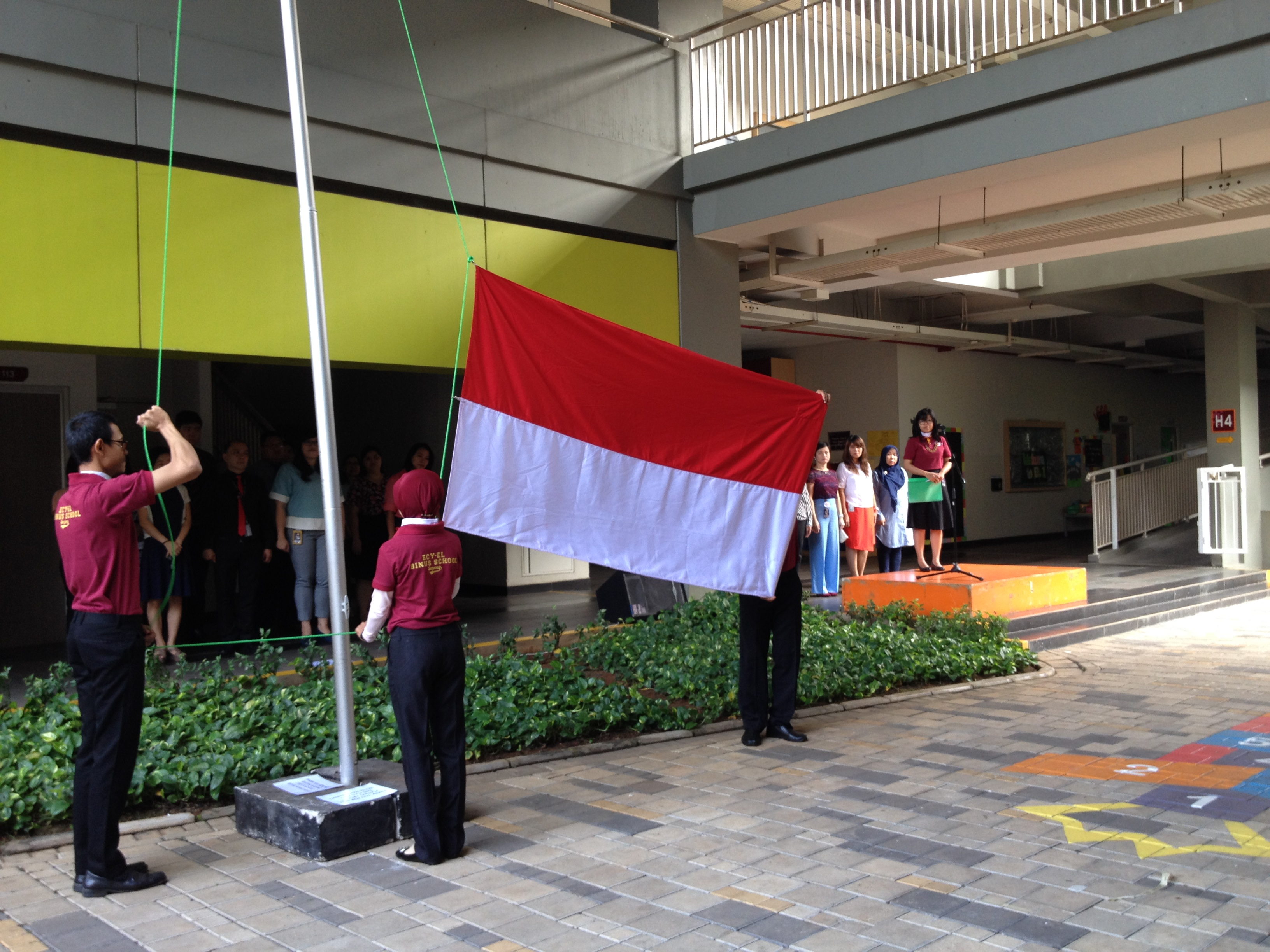 EL's First Flag Ceremony AY 2016/2017 at the Courtyard