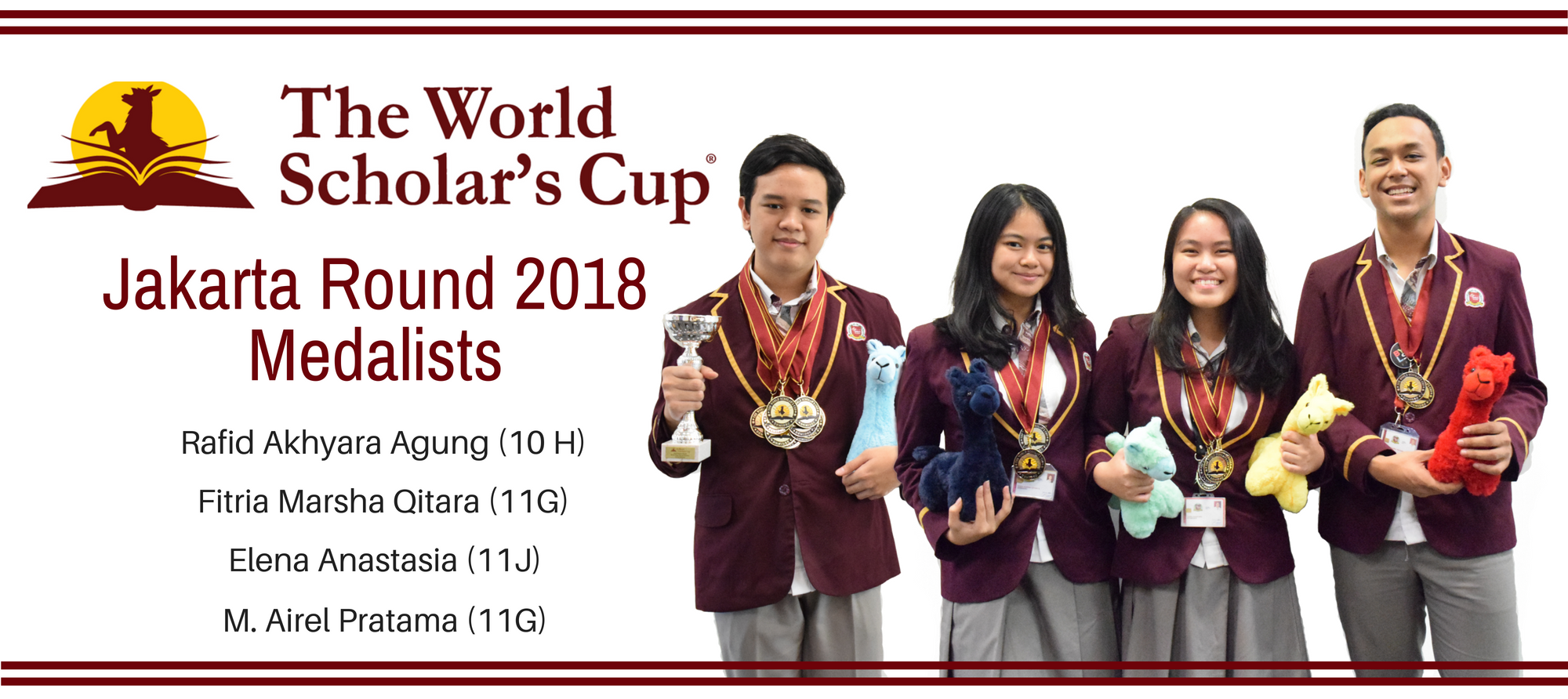 World Scholar's Cup 2018 Medalists