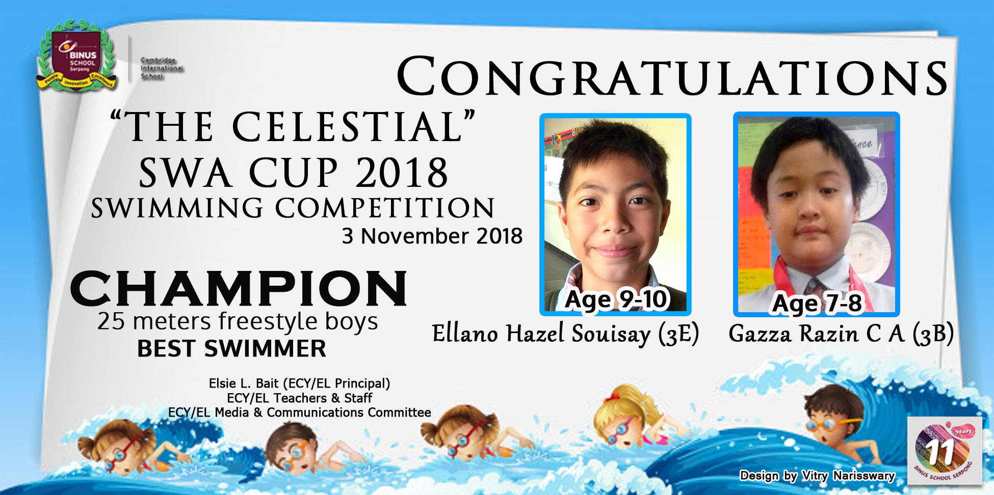THE CELESTIAL SWA CUP 2018