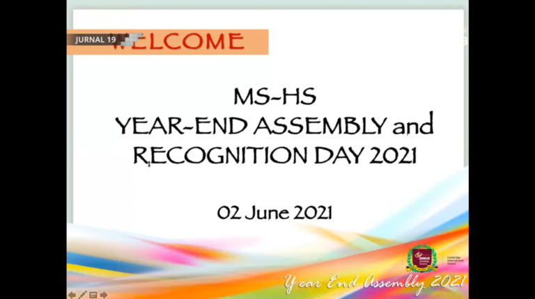 Year-End Assembly & Recognition Day 2021