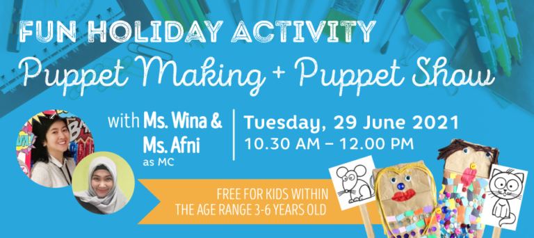 Fun Holiday Activity : Puppet Making + Puppet Show